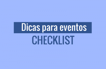 Dicas para eventos: Checklist