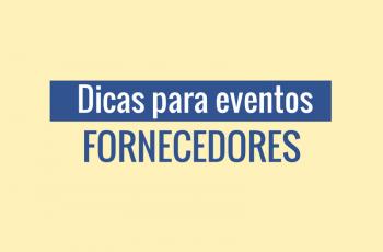 Dicas para eventos: fornecedores